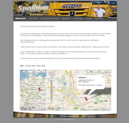 Speditions- und Fuhrunternehmen Metzner