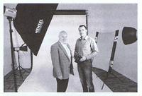 Andreas Wenzel (r.) zeigt Wirtschaftsförderer Hartmut Brühl sein Studio.