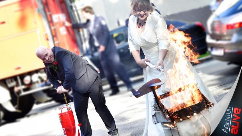 Deutsch-Amerikanische (Feuer-)Hochzeit
