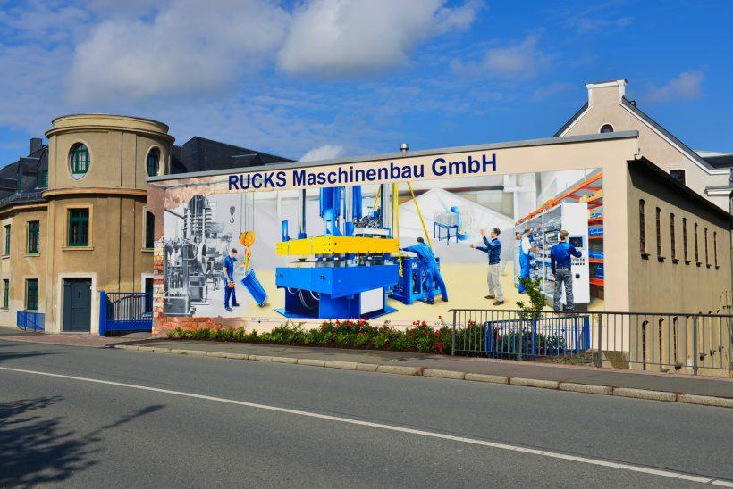 Graffiti zeigt Geschichte des Betriebes