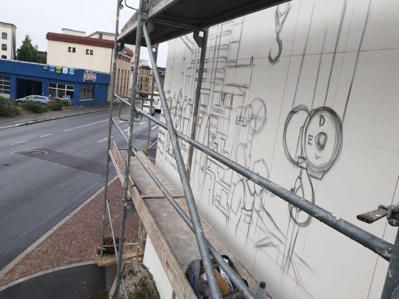 Tasso gestaltet erneut die Fassade der Firma RUCKS