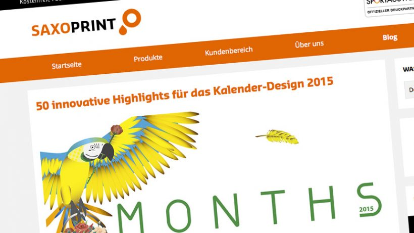 Artikel: 50 innovative Highlights für das Kalender-Design 2015
